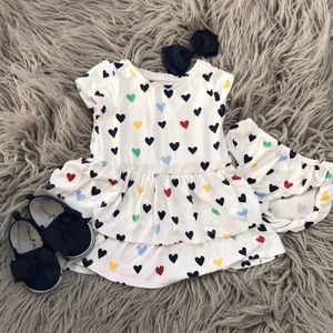Gymboree tiered hearts dress with bloomers